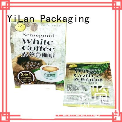 YiLan Packaging side center seal pouch with strict quality control system for coffee bag