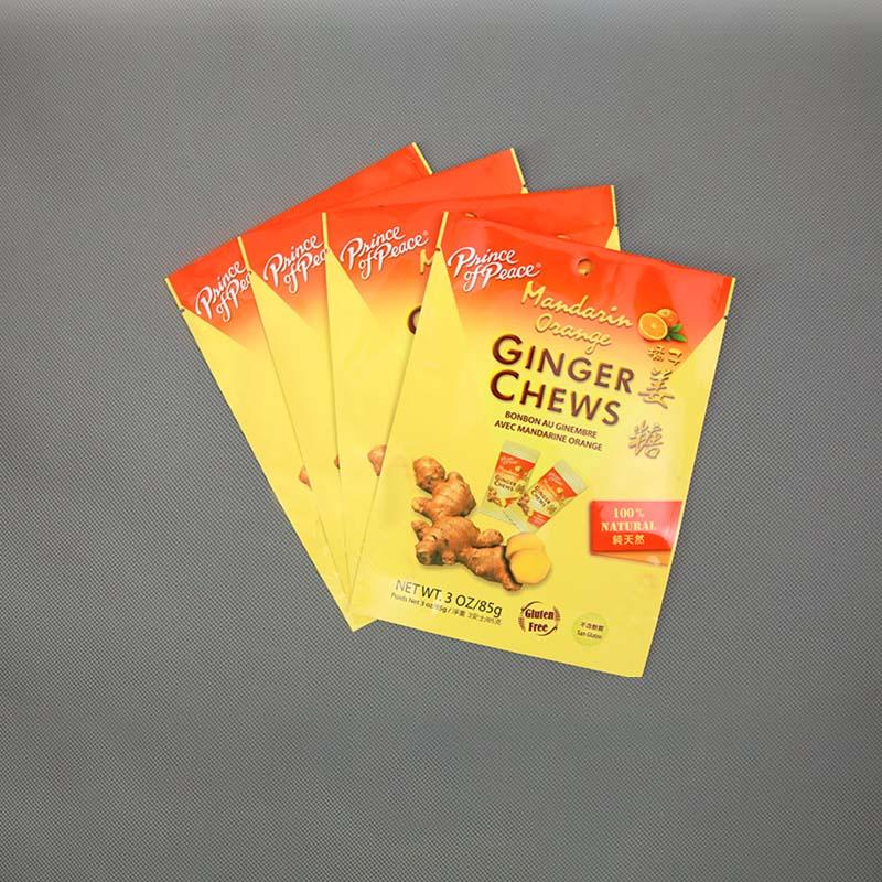 Aluminizing  Stand-up pouch Ginger Chews Candy bag