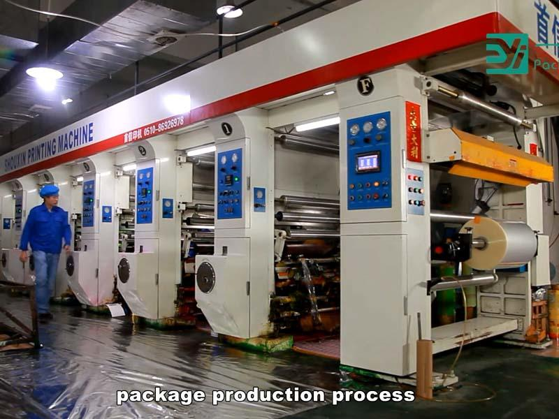 Production process of packaging bags