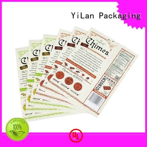 YiLan Packaging Brand paper ginger custom stand pouch bag