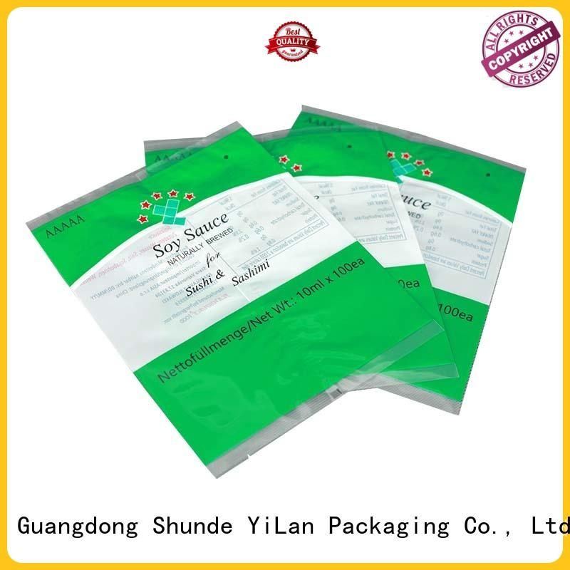 YiLan Packaging Brand coffee side finlap center seal pouch