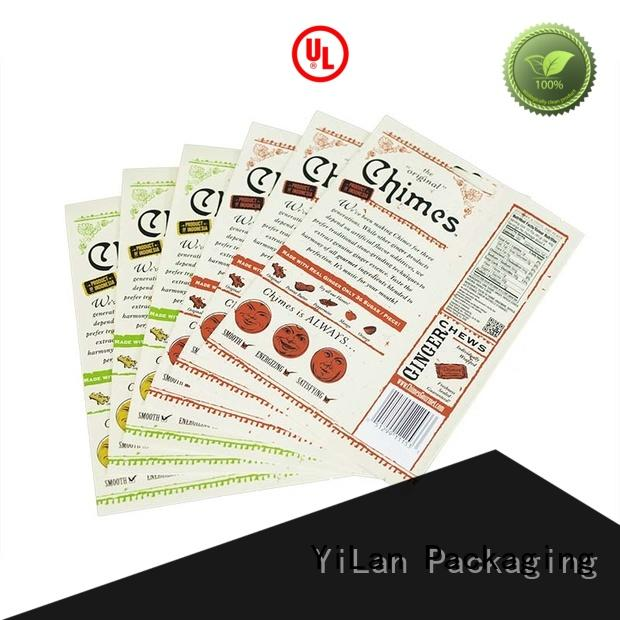 YiLan Packaging paper custom stand up pouches easy to open for food