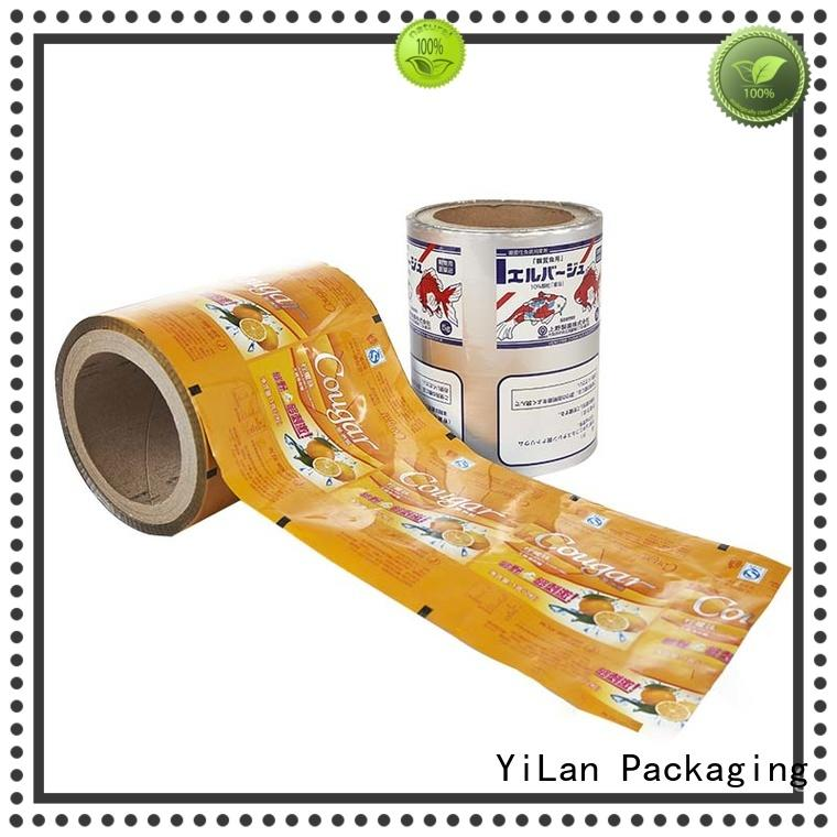 YiLan Packaging advanced laminated packaging films with strict quality control system for advertising