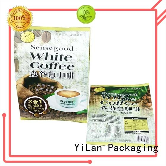 YiLan Packaging translucent gusseted bags with quality assurance for coffee bag