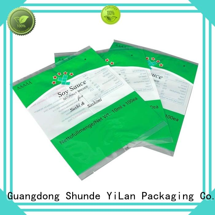 YiLan Packaging translucent flexible pouches packaging with strict quality control system for cookies