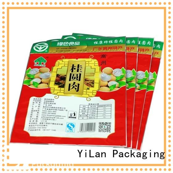 YiLan Packaging Top three side seal pouch Supply for storage