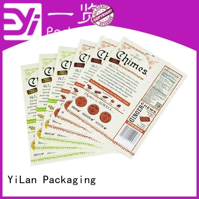 YiLan Packaging standup resealable food packaging with strict quality control system for food