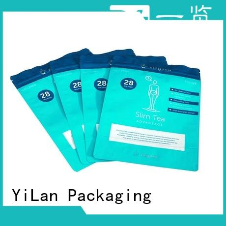 YiLan Packaging colorprinting custom stand up pouches for business for mask