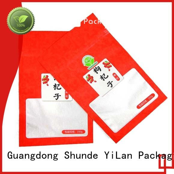 YiLan Packaging matte stand up pouch packaging on sale for storage
