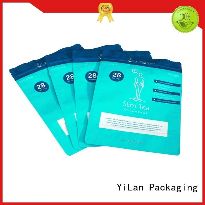 tea stand up barrier pouches on sale for food YiLan Packaging