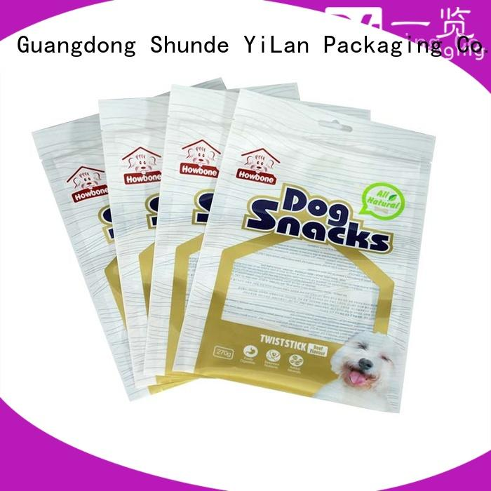 YiLan Packaging three three side seal pouch company for candy bag