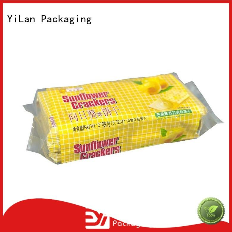 YiLan Packaging biscuits center seal pouch with quality assurance for coffee bag