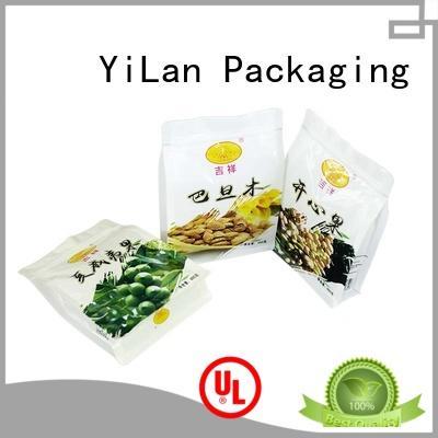 YiLan Packaging Brand bag bottom custom eight side seal pouch