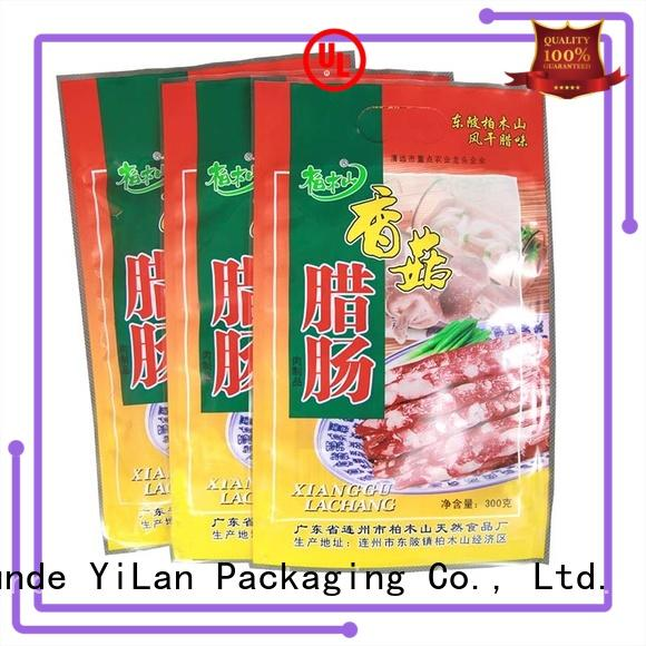YiLan Packaging sausage three side seal pouch on sale for pop corn