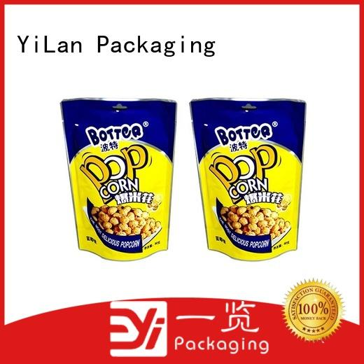 YiLan Packaging bag stand up barrier pouches on sale for food