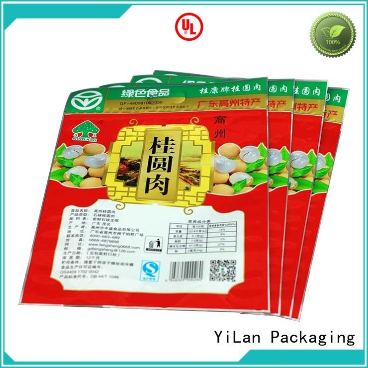 YiLan Packaging custom 3 side seal pouch with strict quality control system for food