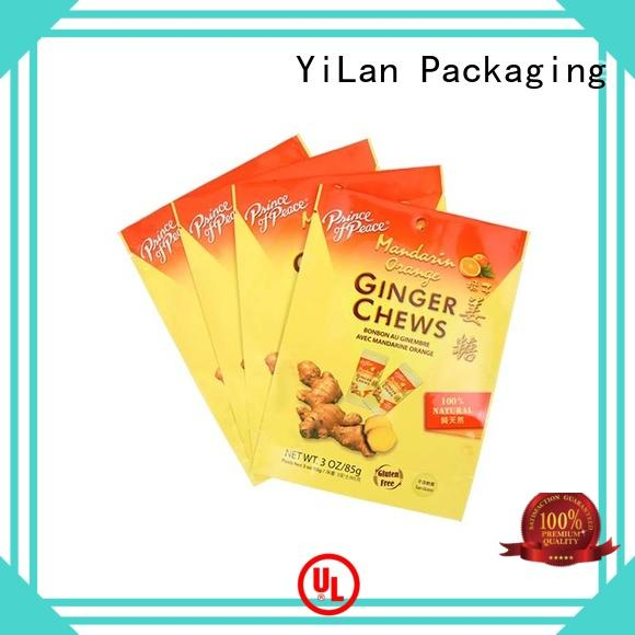 YiLan Packaging chews stand up barrier pouches on sale for food