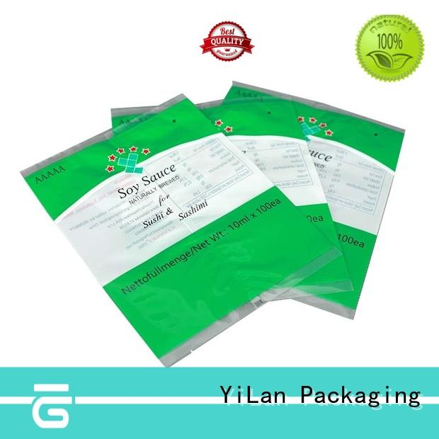 coffee translucent finlap center seal pouch bag YiLan Packaging