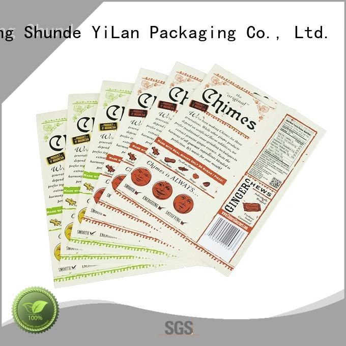 YiLan Packaging exquisite stand up barrier pouches easy to open for food