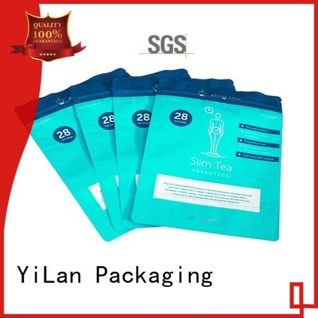 YiLan Packaging ginger resealable pouch bags on sale for gift