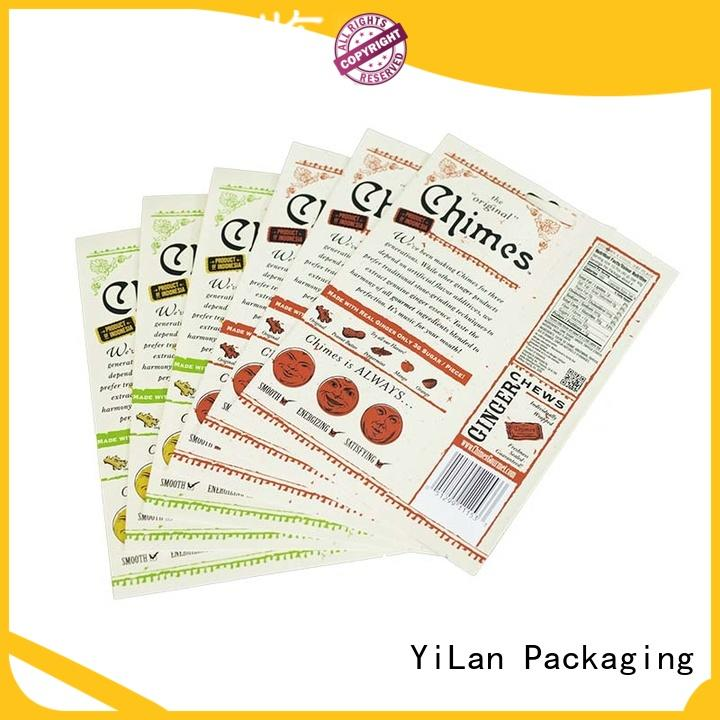 YiLan Packaging candy resealable food packaging with strict quality control system for food