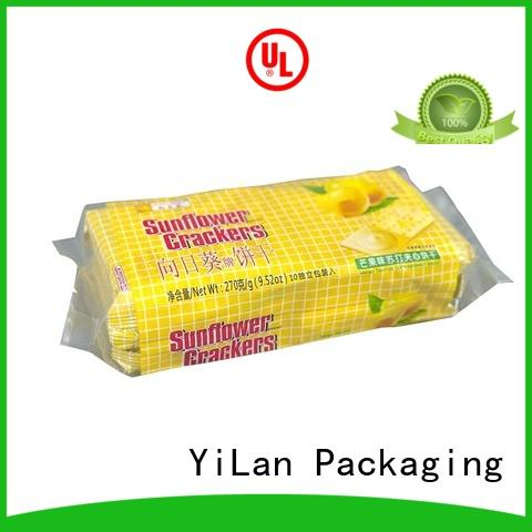 Quality YiLan Packaging Brand biscuits gusseted center seal pouch