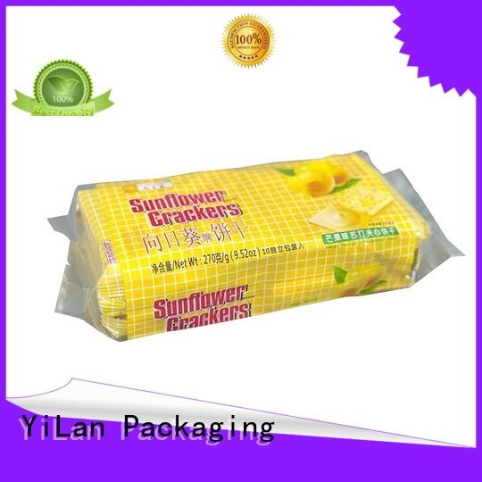 bag biscuits pouch YiLan Packaging Brand center seal pouch