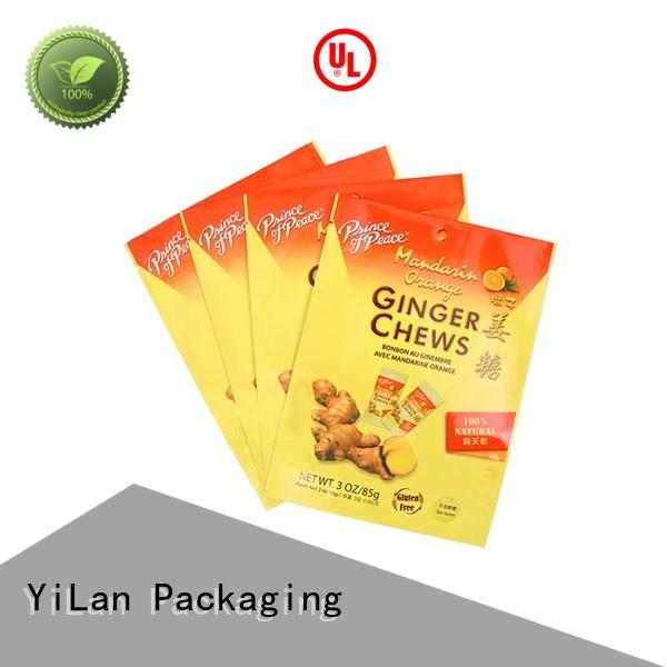 tea colorprinting zipper chews YiLan Packaging Brand resealable packaging supplier