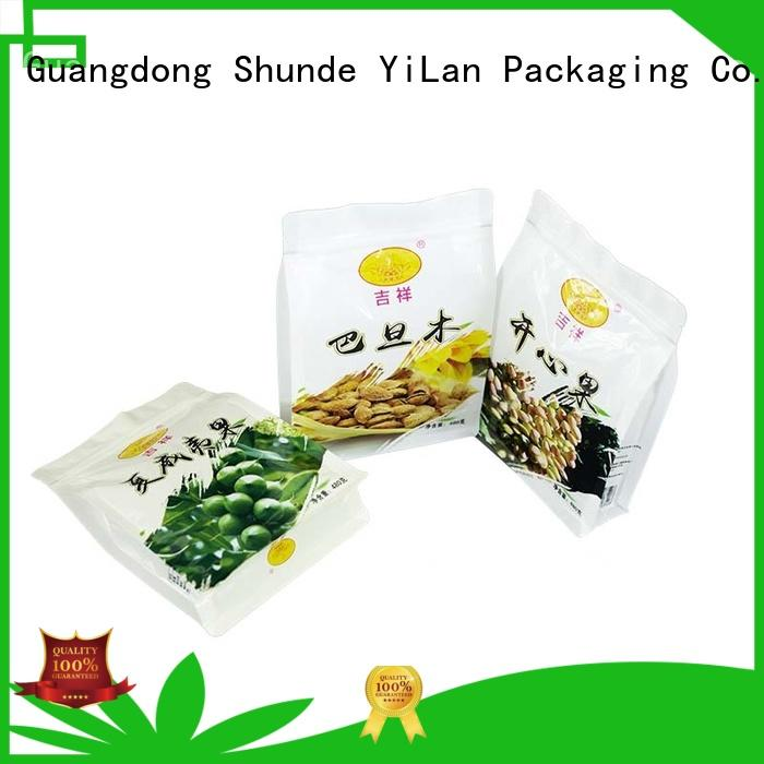 eight side seal pouch nuts bag rice Warranty YiLan Packaging