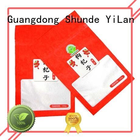 Custom matte 3 side seal pouch dog YiLan Packaging