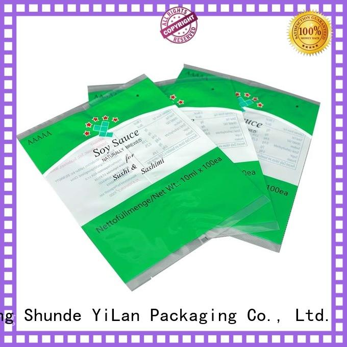 YiLan Packaging translucent center seal pouch easy to open for gift