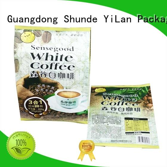 Wholesale biscuits sealed center seal pouch YiLan Packaging Brand