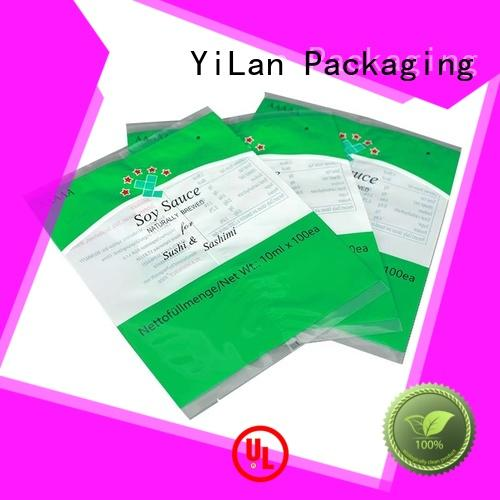 translucent flexible pouches packaging biscuits with strict quality control system for backage