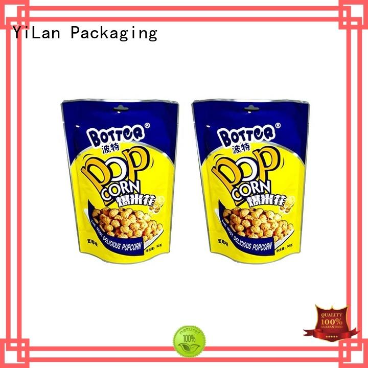 YiLan Packaging popcorn stand up barrier pouches with quality assurance for mask