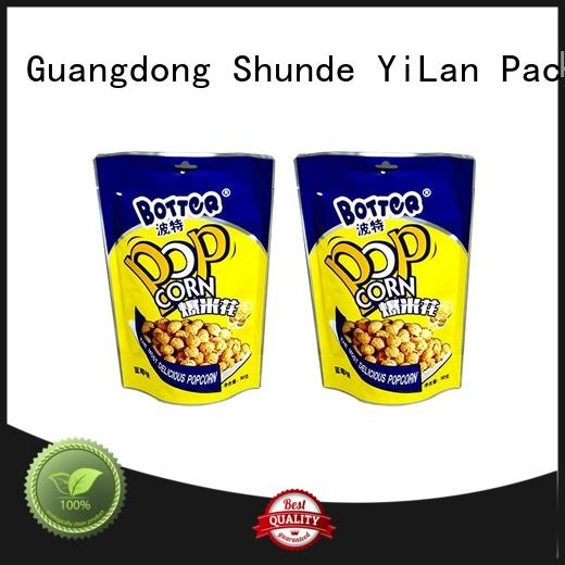 YiLan Packaging Brand chews tea aluminizing stand pouch bag