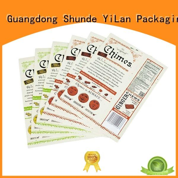YiLan Packaging Brand tea colorprinting custom stand pouch bag