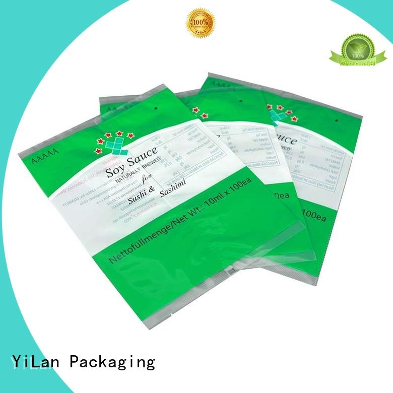 Wholesale pouch center seal pouch YiLan Packaging Brand