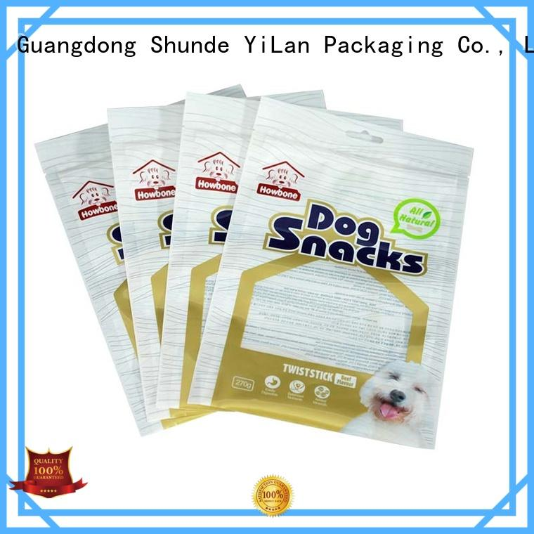 Wholesale snacks sausage 3 side seal pouch YiLan Packaging Brand