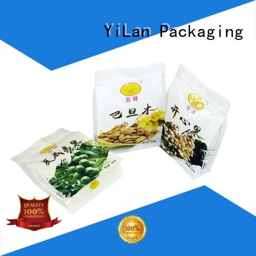 bag rice nuts YiLan Packaging Brand eight side seal pouch factory