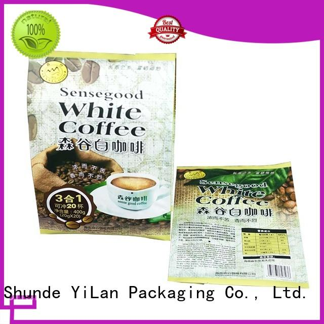 YiLan Packaging online center seal pouch with quality assurance for coffee bag