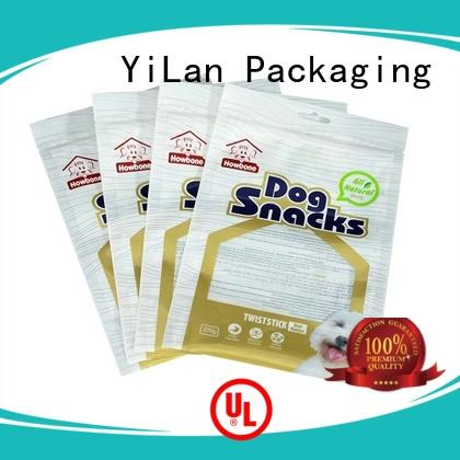 YiLan Packaging matte three side seal pouch with strict quality control system for storage
