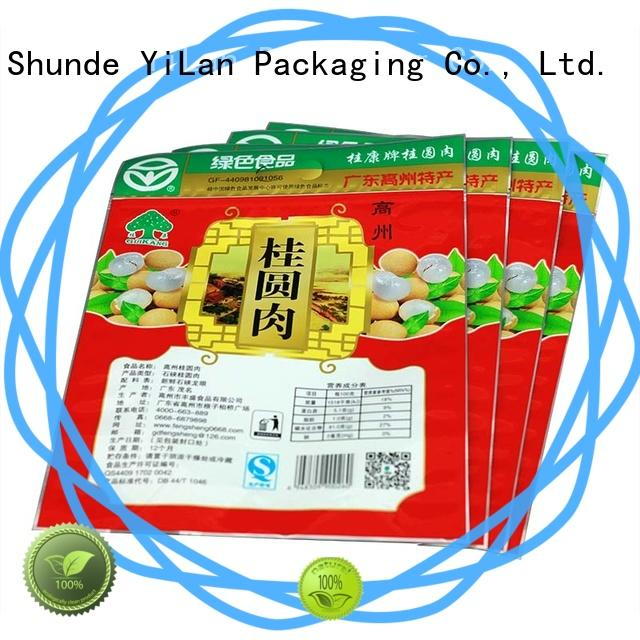 YiLan Packaging zipper food packaging bags with quality assurance for food