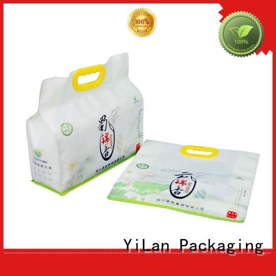 YiLan Packaging Brand printing color bag side gusset bag manufacture