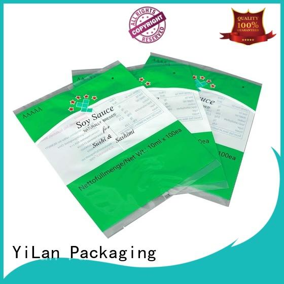 YiLan Packaging online center seal pouch easy to open for coffee bag