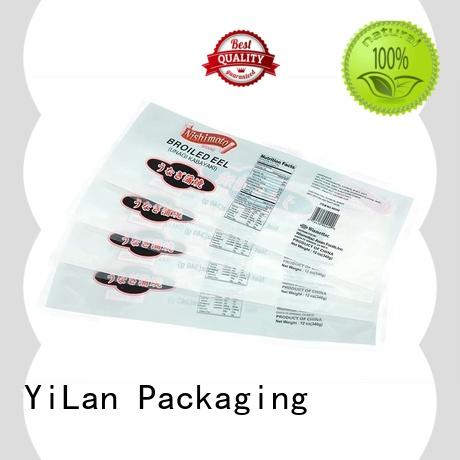 ziplock stand up pouches eel snacks yozhe YiLan Packaging Brand 3 side seal pouch