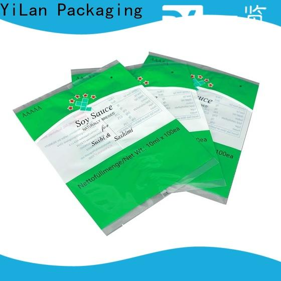 YiLan Packaging High-quality center seal pouch Suppliers for coffee bag
