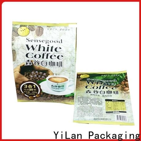 YiLan Packaging gusseted flexible pouches packaging factory for backage