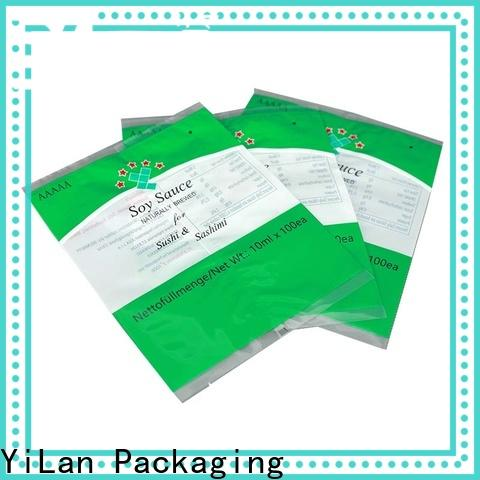 YiLan Packaging translucent center seal pouch manufacturers for gift