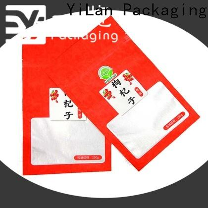 YiLan Packaging zipper stand up pouch bags Suppliers for storage