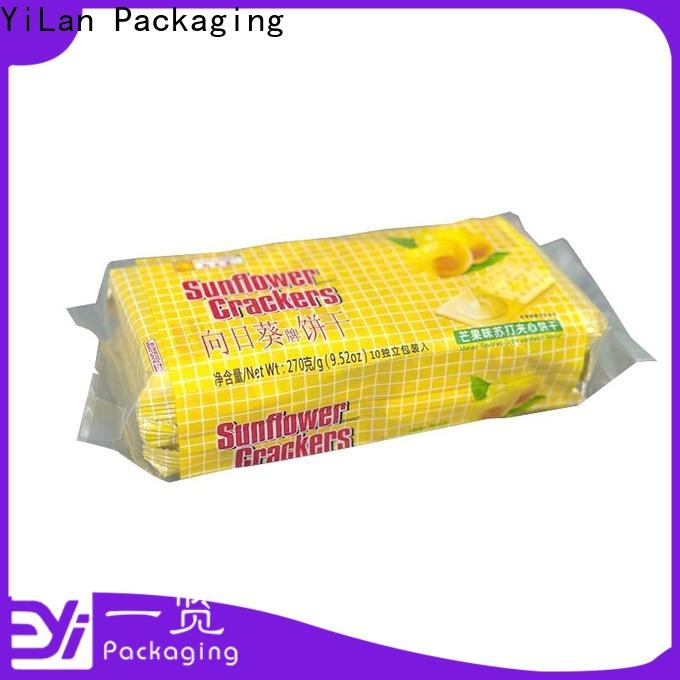 Custom center seal pouch translucent Supply for backage